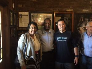 Ben Carson, presidential candidate, dines at Silver Saddle Steakhouse in August of 2015.