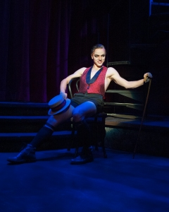 The gender-bending Emcee (Josh Dunn) of UA Arizona Repertory Theatre's sizzling production of Kander and Ebb's CABARET, running Oct 18 – Nov 8, 2015 (photo by Ed Flores).