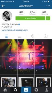 ASAP Rocky Instagram screenshot