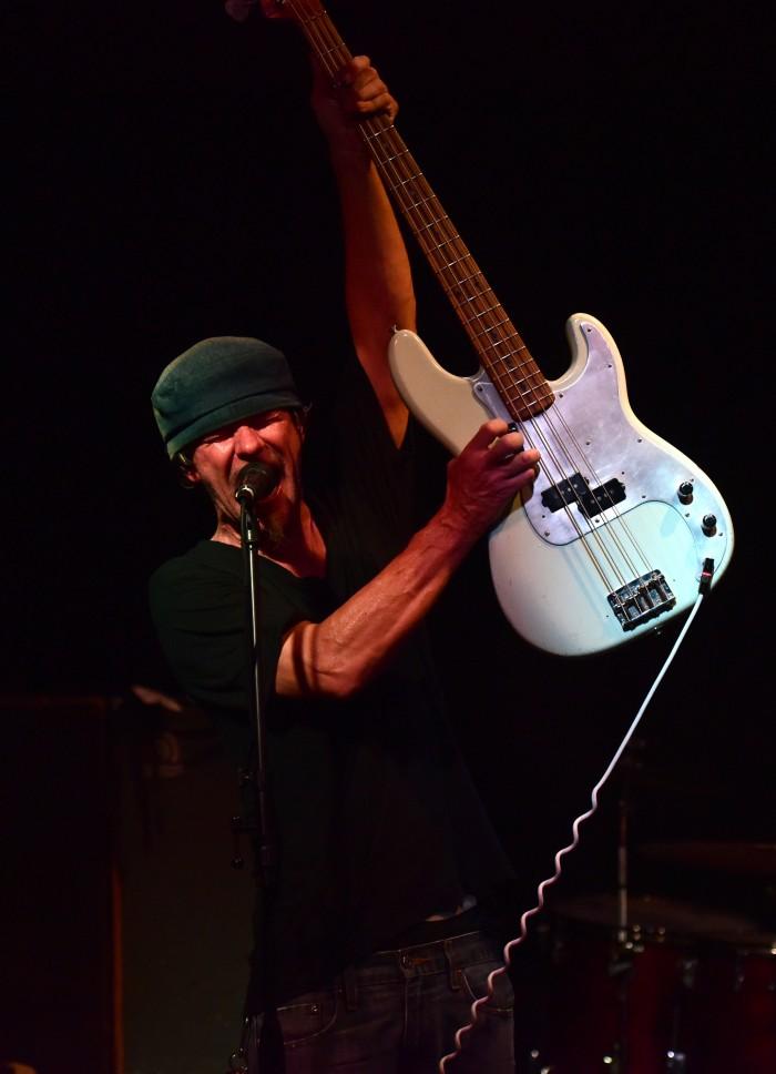 Bassist Ken Andree rocks away.